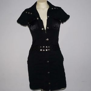 Guess Black Belted Dress